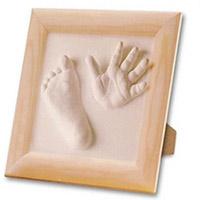 Kit de Moulage Plâtre Empreintes Bébé Cadre en Bois