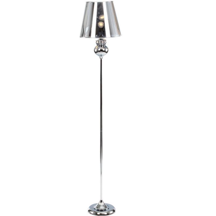 Lampe d co boules silver m tal chrom - Lampadaire boule chrome ...