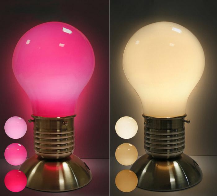 lampe touch bulbe lampe sensitive s 39 allumant au toucher. Black Bedroom Furniture Sets. Home Design Ideas