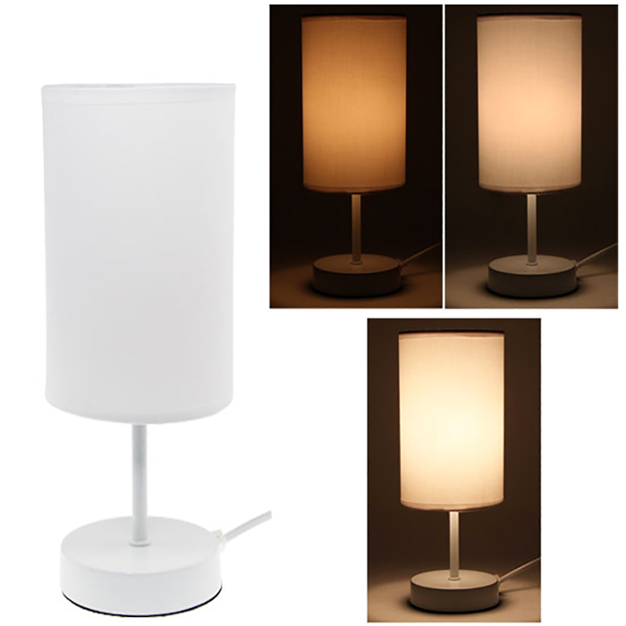 lampe de chevet sensitive touch tactile design 3 intensit s lumineuses blanc ebay. Black Bedroom Furniture Sets. Home Design Ideas