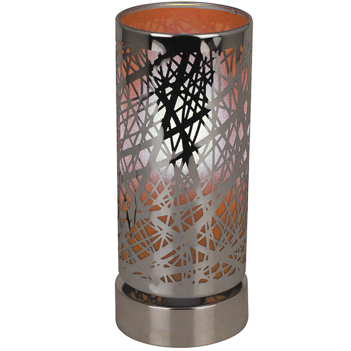 lampe tactile cylindrique m tal graphique ou new york. Black Bedroom Furniture Sets. Home Design Ideas