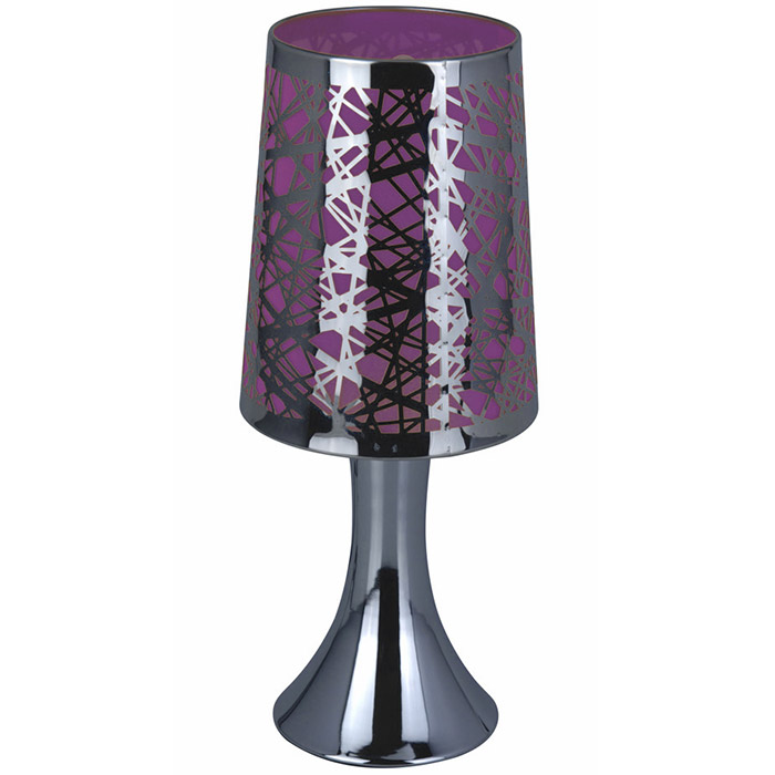 lampe de chevet sensitive tactile 3 intensit s graphique violet ebay. Black Bedroom Furniture Sets. Home Design Ideas