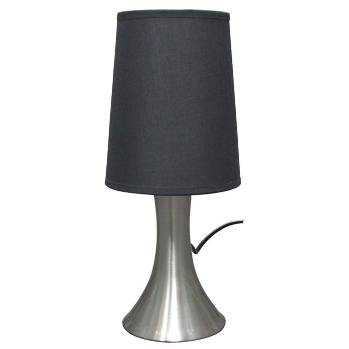lampe sensitive touch abat jour noir brun ou gris. Black Bedroom Furniture Sets. Home Design Ideas