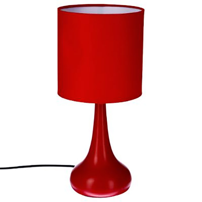 lampe sensitive touch tactile design rouge lampe de chevet d co ebay. Black Bedroom Furniture Sets. Home Design Ideas