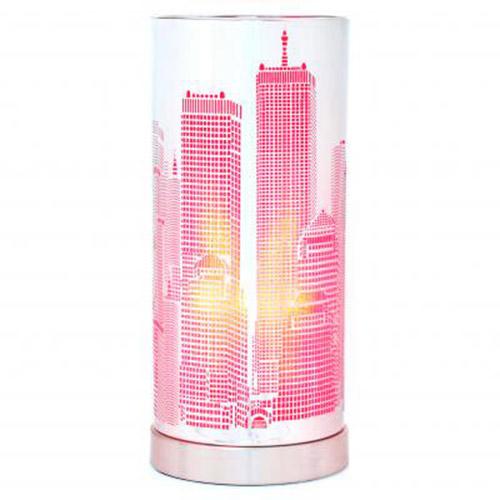 Lampe sensitive new york rose ebay for Lampe de chevet tactile new york