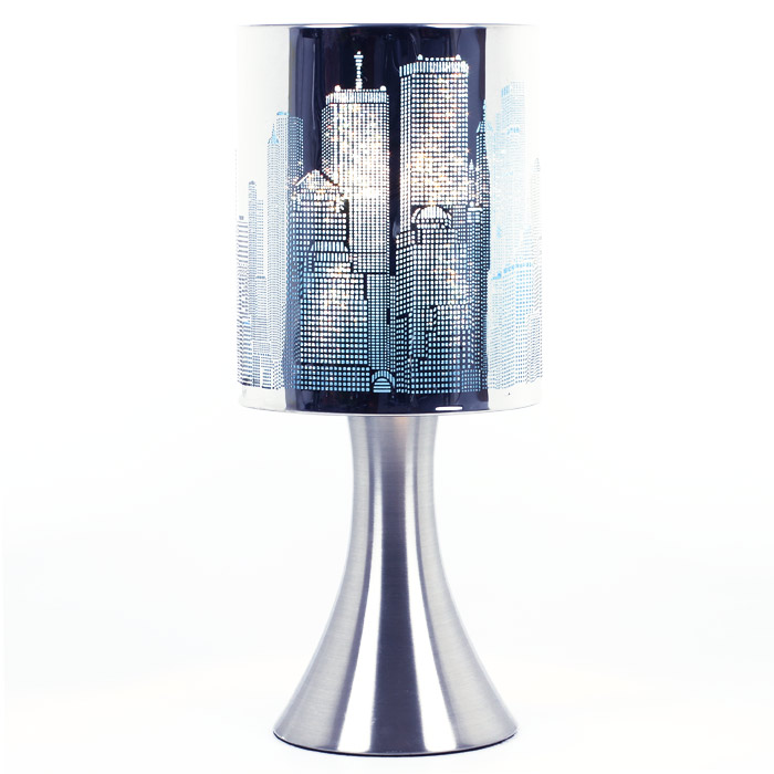 lampe touch new york avec grattes ciel de new york. Black Bedroom Furniture Sets. Home Design Ideas