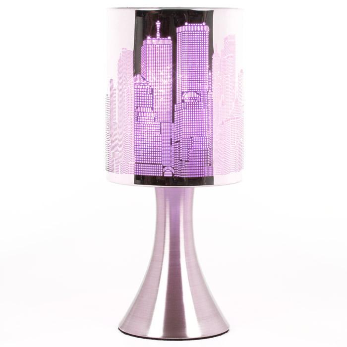 Lampe sensitive touch new york d co new york violet - Lampe de chevet violet ...