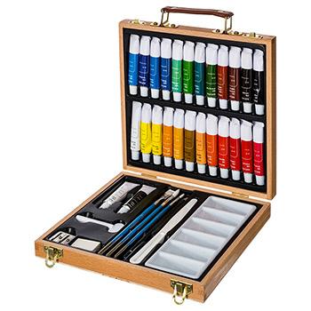 Mallette de peinture acrylique 35 pi ces pour peinture et - Peinture bonne qualite ...