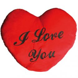 "Coussin Coeur XXL  ""I Love You"" 60  cm"