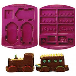 Moules Petit Train en Silicone