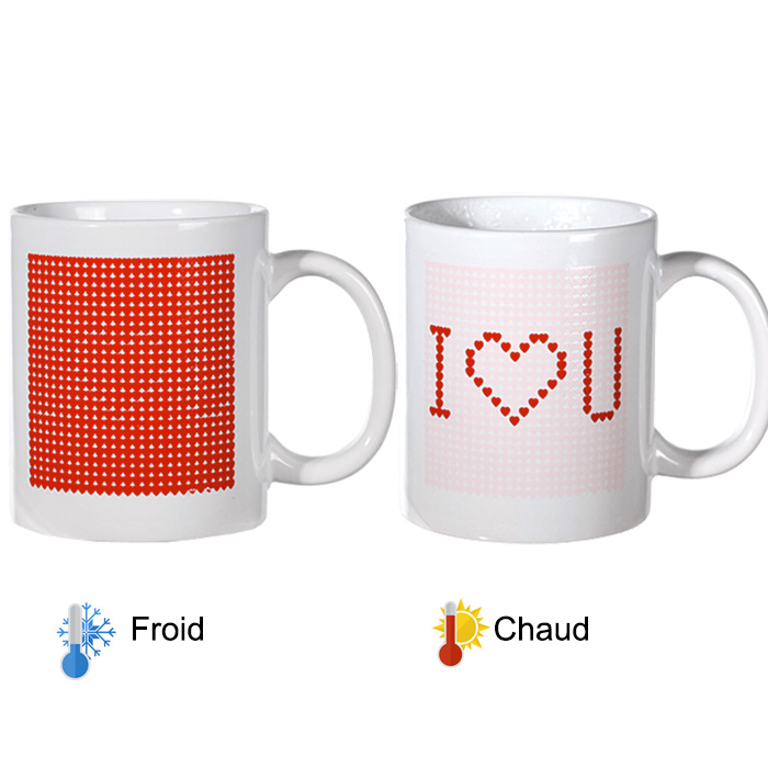 mug magique chaud froid i love you cadeau saint valentin. Black Bedroom Furniture Sets. Home Design Ideas