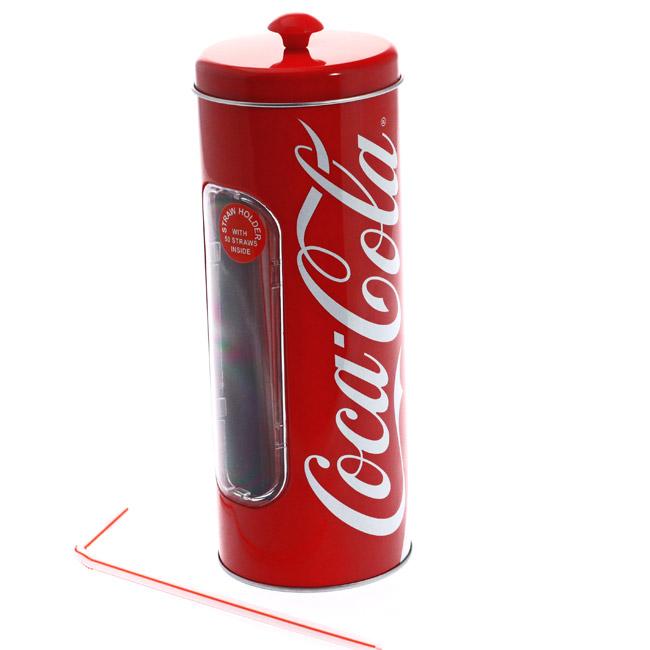 Boite coca cola en m tal avec pailles coca cola x50 - Meuble coca cola ...