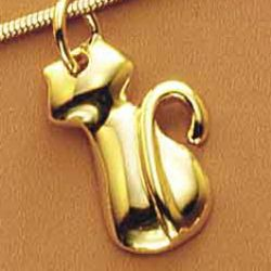 Pendentif Chat Plaqu Or
