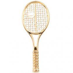 Pendentif Raquette de Tennis Plaqué Or