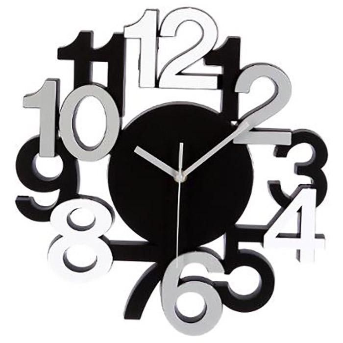 Pendule murale horloge design chiffres gris rouge for Horloge murale moderne design