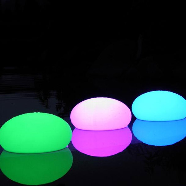 lampe d co galet lumineux qui change de couleur 12 cm ebay. Black Bedroom Furniture Sets. Home Design Ideas