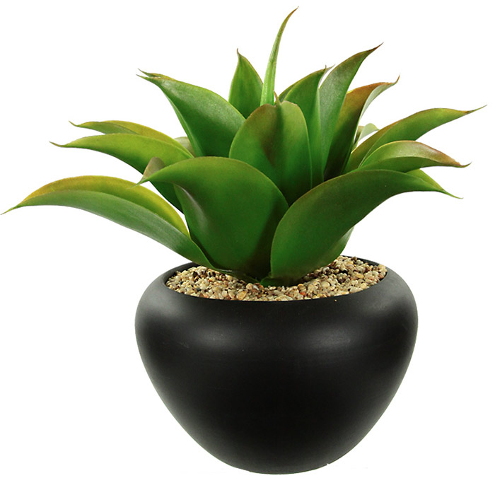 plante artificielle aloe vera dans son pot en c ramique. Black Bedroom Furniture Sets. Home Design Ideas