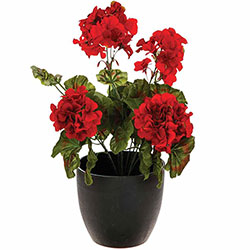 Plante Artificielle Geranium en Pot