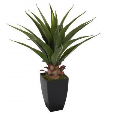 Plante artificielle en pot de la famille du palmier - Pot pour palmier ...