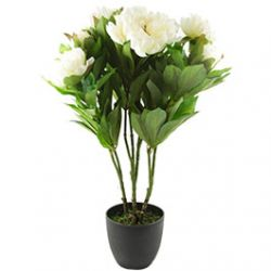 Plante Artificielle Pivoine en Pot