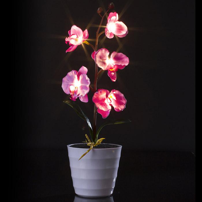 plante artificielle orchid e lumineuse led