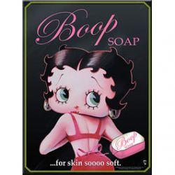 Plaque Métal Betty Boop Soap 30x40 cm