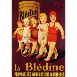 Plaque Métal Blédine Générations d'Athlètes 30x40 cm