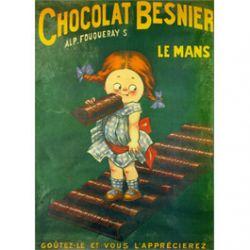 Plaque Métal Chocolat Besnier 30x40 cm