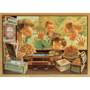 Plaque métal Biscuits LU 30 x 40 cm