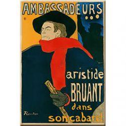Plaque Métal Aristide Bruant 30x40 cm