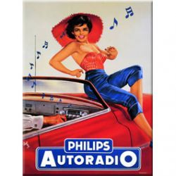 Plaque Métal Philips Autoradio 30x40 cm