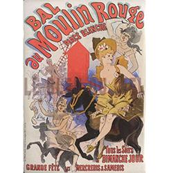 Plaque Métal Bal Moulin Rouge 30x40 cm