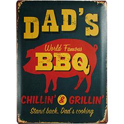 Plaque métal Barbecue 30x40 cm