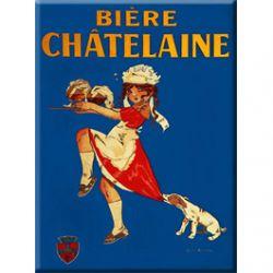 Plaque Métal Bière Chatelaine 30x40 cm