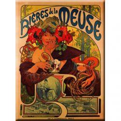Plaque Métal Bières de la Meuse 30x40 cm