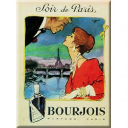 Plaque Métal Bourjois 30x40 cm