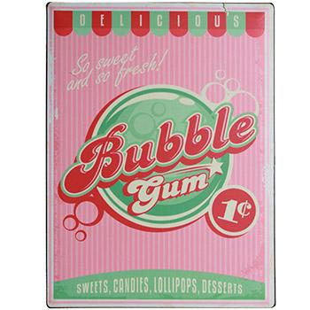 Plaque Métal Bubble Gum 30x40 cm