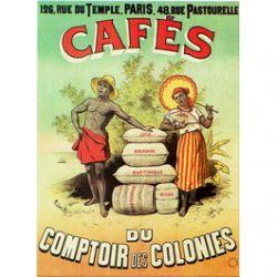 Plaque Métal Cafés Comptoir 30x40 cm