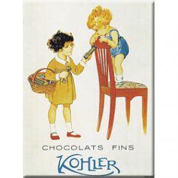 Plaque Métal Chocolat Kohler 30x40 cm