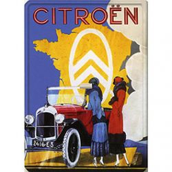Plaque Métal Citroën Carte de France 30x40 cm