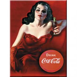 Plaque Métal Coca Cola Brazilian lady 30x40 cm
