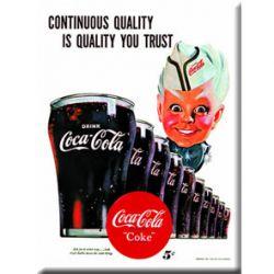Plaque Métal Coca Cola Continuous Quality 30x40 cm