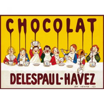 Plaque Métal Chocolat Delespaul 30x40 cm