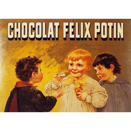 Plaque Métal Chocolat Félix Potin 30x40 cm