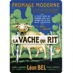 Plaque Métal Fromage Vache qui Rit 30x40 cm