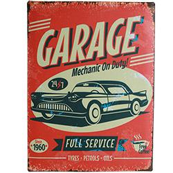 Plaque Métal Garage 30X40 cm
