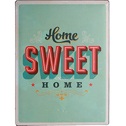 Plaque Métal Home Sweet Home 30x40 cm