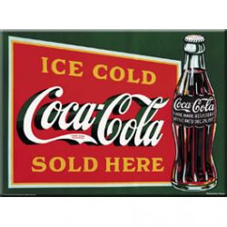 Carte Métal Coca Cola Ice Cold 15x21 cm