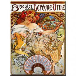 Plaque Métal Biscuits LU 1897 30x40 cm
