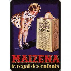 Plaque Métal Maïzena Régal des Enfants 30x40 cm